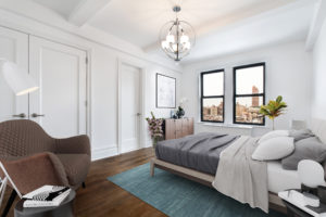 Image of virtual staged bedroom in new condo