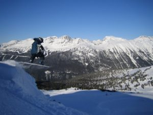 image of backcountry snowboarder whistler