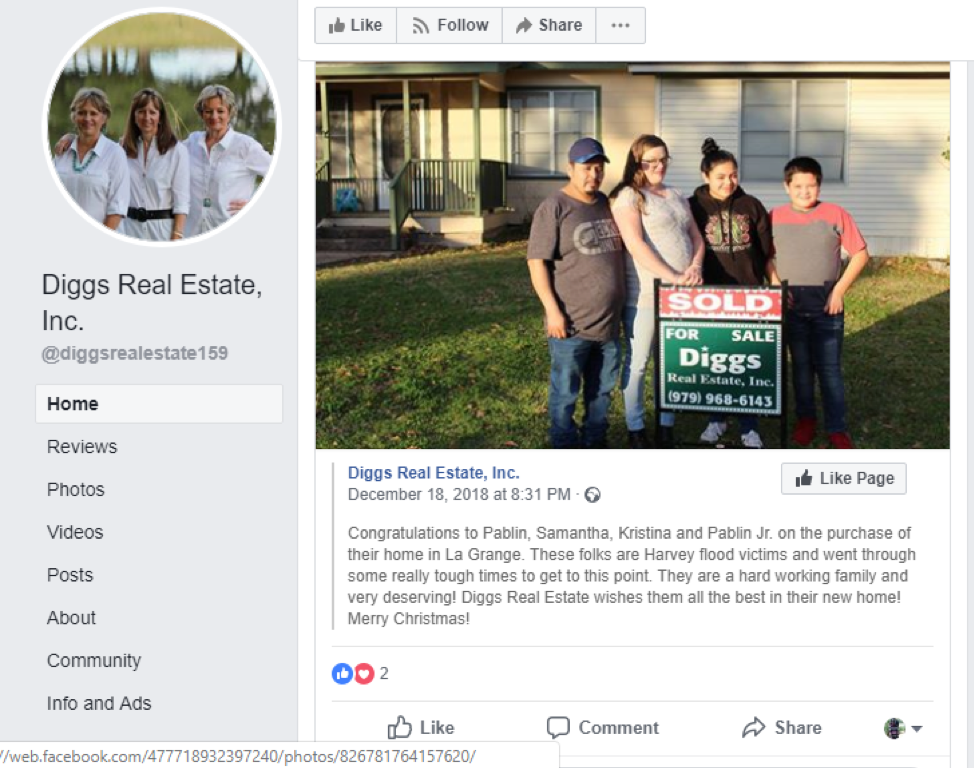 diggs real estate picture on facebook