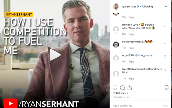 Ryan Serhant social media